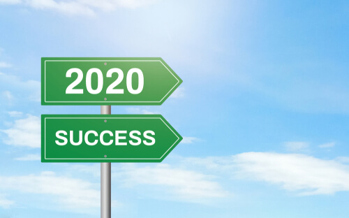 2020 success sign