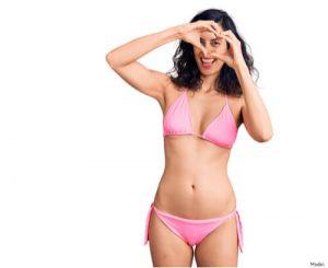 woman wearing a pink bikini